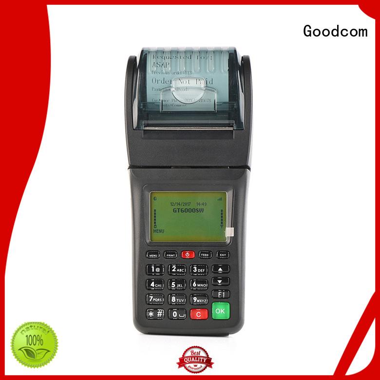 Goodcom portable gprs pos machine airtime for restaurant