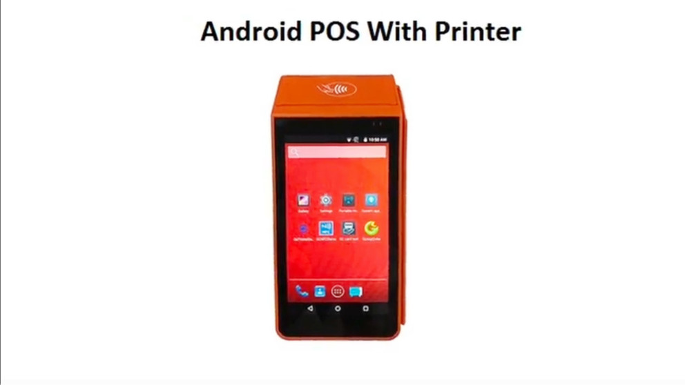 Android Pos with Printer, nfc, magnetic smart card reader