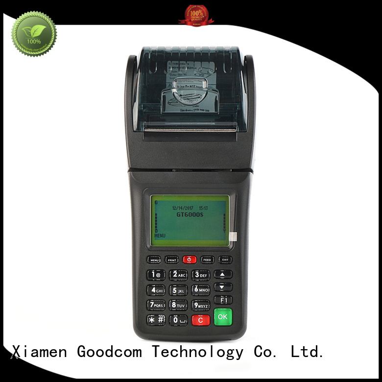 Goodcom top brand gprs sms printer pos terminal for customization