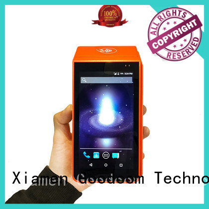 Goodcom high-quality handheld terminal with printer reasonable structure free sdk