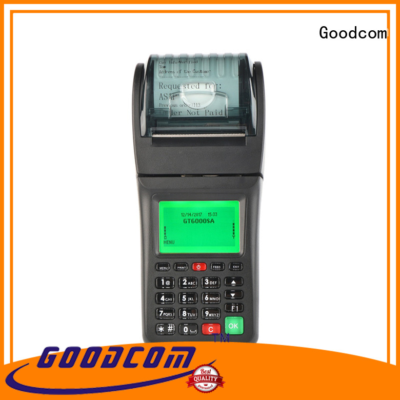 portable credit card payment machine free delivery fast installation Goodcom