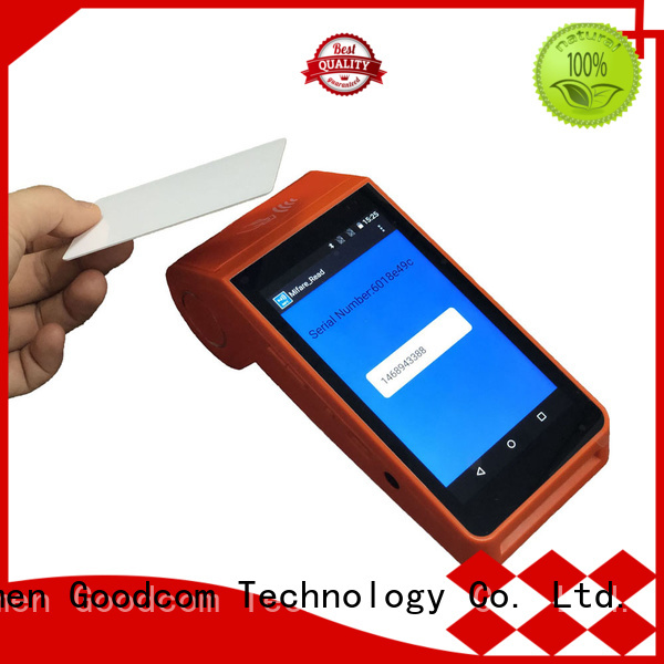 Goodcom stable quality android tablet with printer advanced technology for hotel