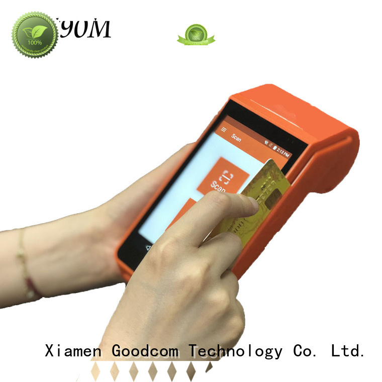 Goodcom 3g/4g/wifi android pos terminal with printer long-lasting durability for bus tickets