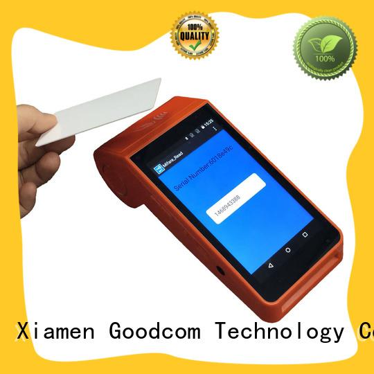 Goodcom top manufacture android handheld pos terminal free sdk