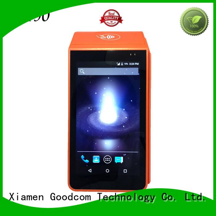 Goodcom 3g/4g/wifi android pos terminal with printer factory price
